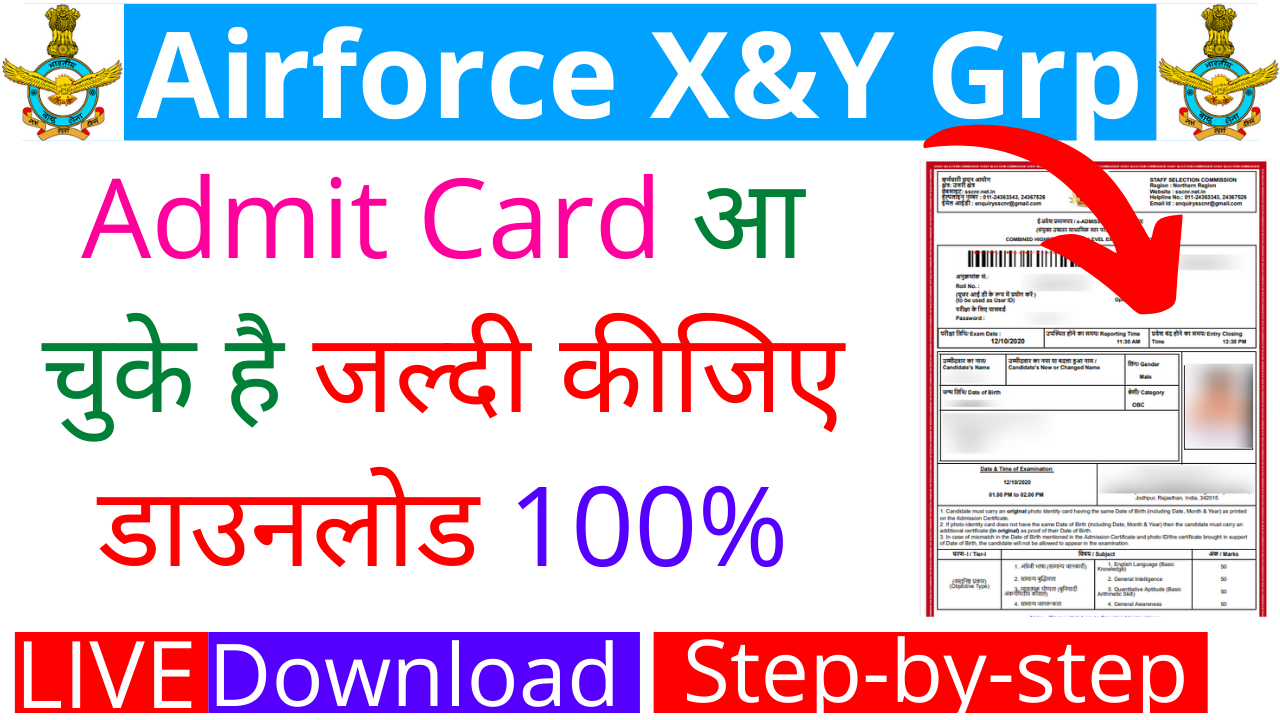 Indian Airforce Admit Card 2021