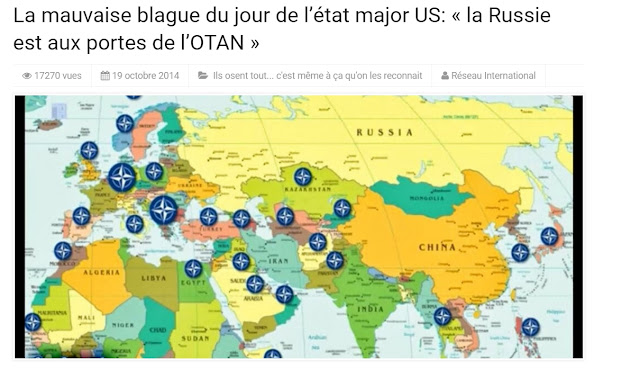 carte des bases de l'OTAN