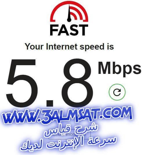 شرح قياس سرعة الإنترنت لديك