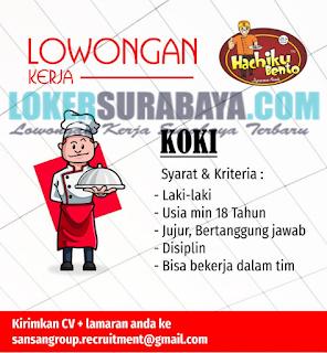 Loker Surabaya Terbaru di Hachiku Bento (Japanese Foods) Mei 2019