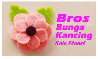 Bross Bunga Dari Kain Flanel