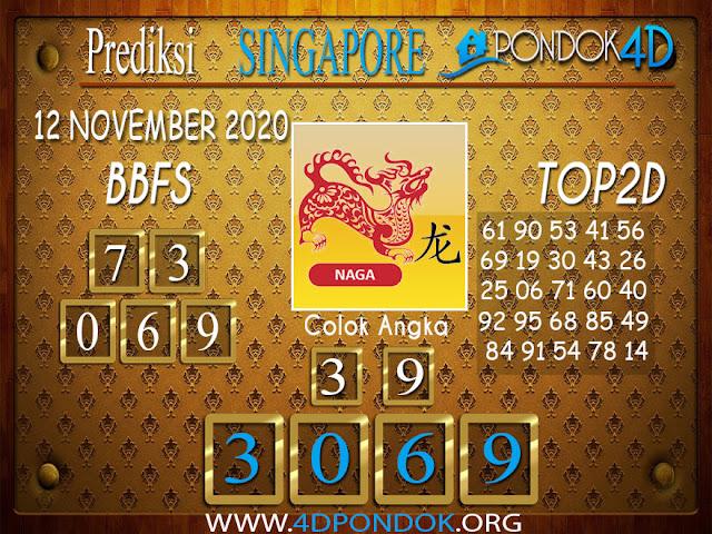Prediksi Togel SINGAPORE PONDOK4D 12 NOVEMBER 2020