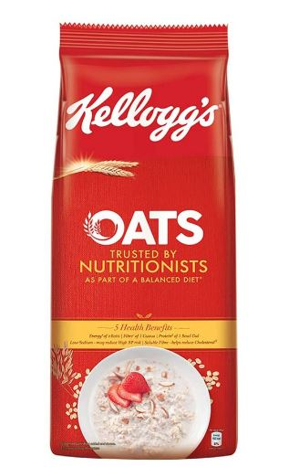 Kellogg's Oats, Rolled Oats, High in Protein and Fibre, Low in Sodium, 2kg Pack