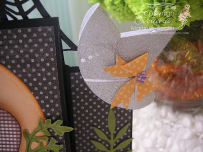 center step card for halloween witch hat