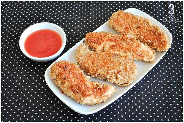 receita frango gergelim