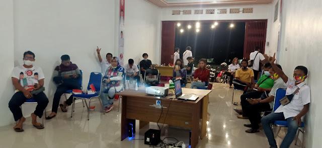 Relawan Kalteng Berkah dan Milineal Batara Squad Barito Utara, Nobar dan Yakin Akan Kemenangan Paslon 02