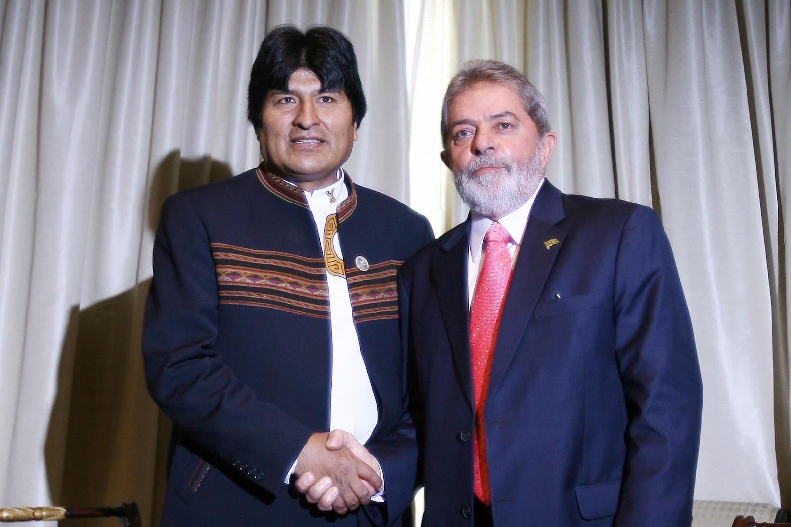 Evo Morales e Lula