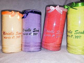 Souvenir Handuk Mika Tabung untuk souvenir kelahiran bayi