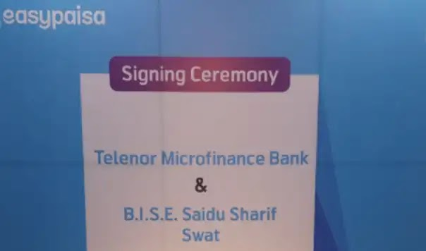 Swat signs a digital agreement to pay charges for Easypaisa and the Board of Intermediate & Secondary Education