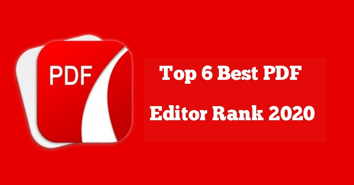 Top 6 Best PDF Editor Rank 2020