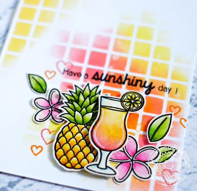 Sunny Studio Stamps: Tropical Paradise Sunshiny Day Card by Lexa Levana.