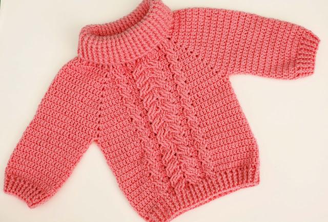 4-Crochet Imagen Jersey de espigas y ochos a crochet y ganchillo por Majovel Crochet