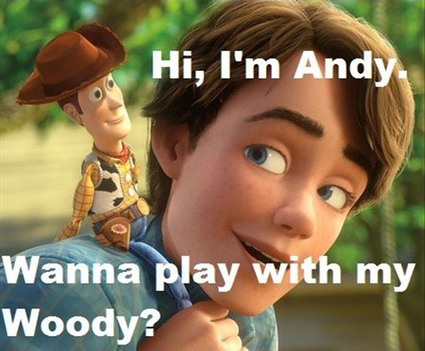 Hi, I'm Andy, Wanna play with my Woody?
