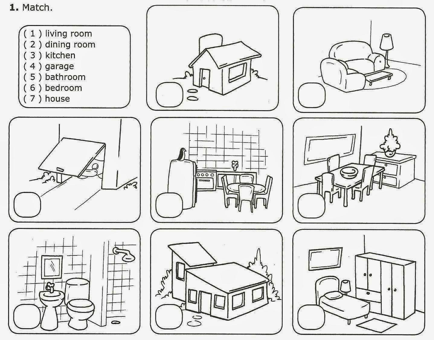 Mundo Da Pedagogia Partes Da Casa Em Ingles