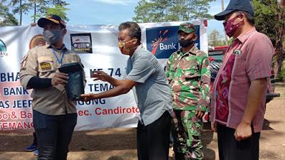 Batuud Wakili Danramil 05 Candiroto Hadiri Giat Bhakti Sosial Kapolres Temanggung Bersama Bank Jateng Dan Komunitas Ofroad
