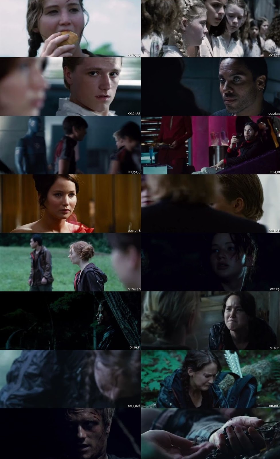 The Hunger Games 2012 300MB Dual Audio 480p BRRip