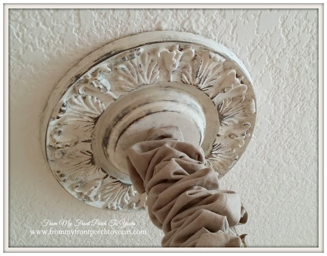 Chalk Paint- Ceiling Medallion-From My Front Porch To Yours