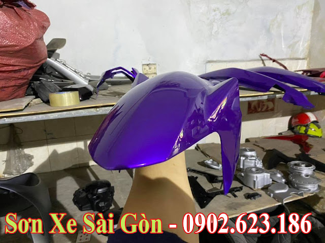 Mẫu Xe Exciter 150 sơn phối màu tím bạc cực đẹp