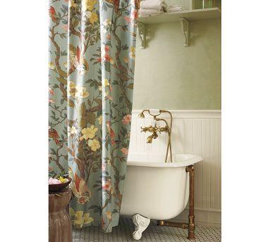 Fabric Shower Curtains Pottery Barn | www.elderbranch.com