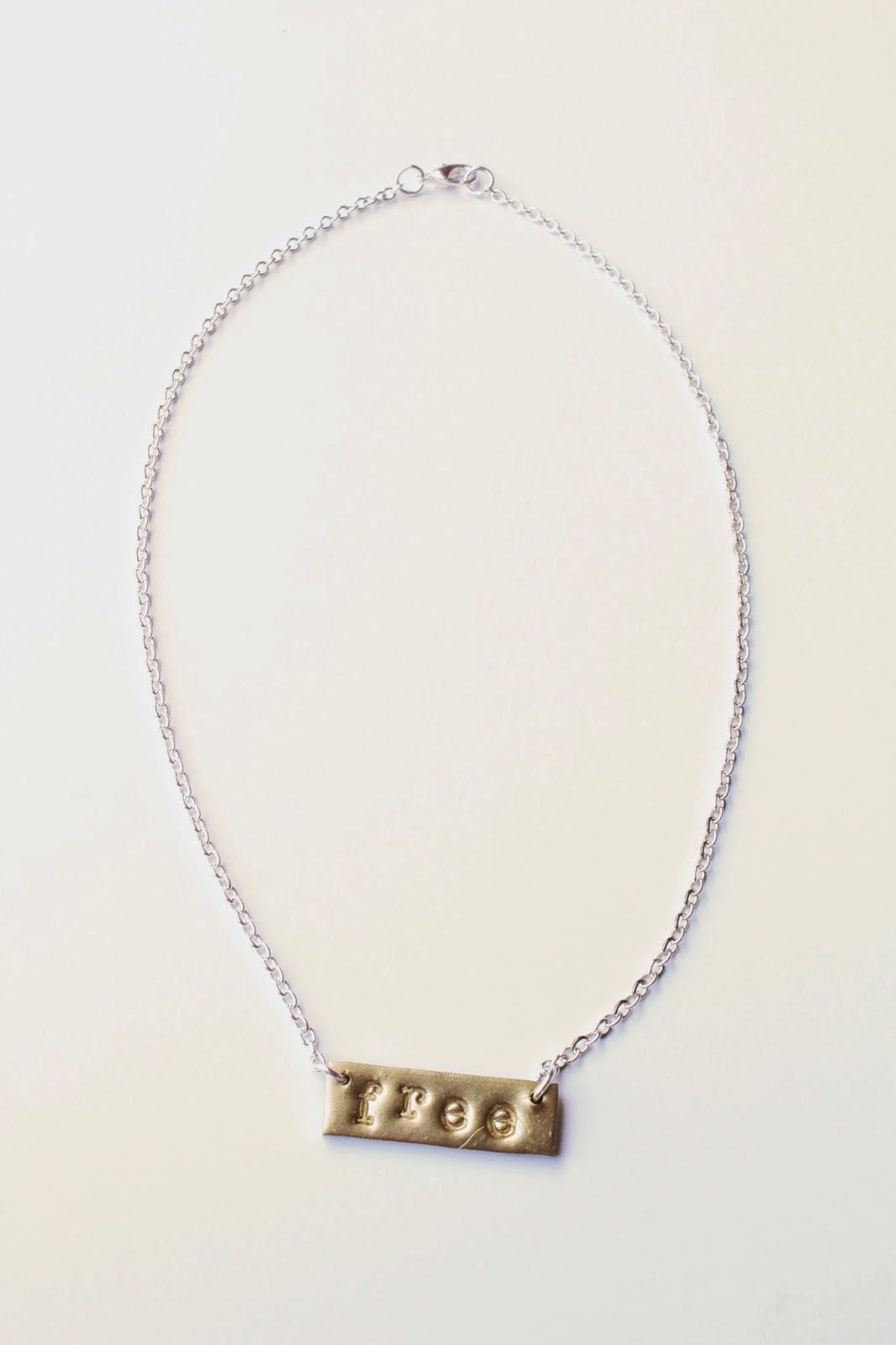 diy: nameplate necklace
