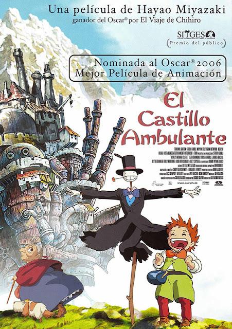 Cartel de la película de animación de Studio Ghibli el Castillo Ambulante