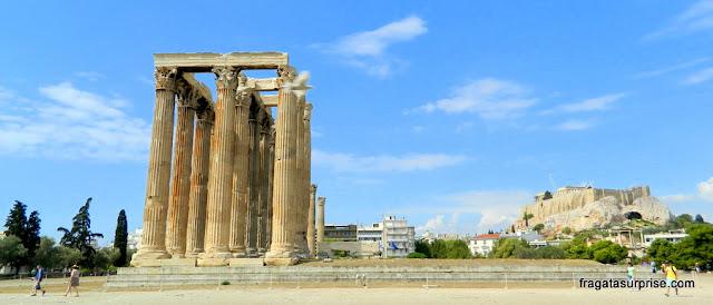 Templo de Zeus Olímpico e Acrópole de Atenas