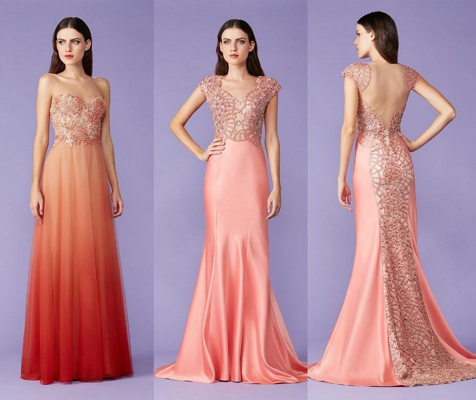 Magnífico Vestidos De Fiesta Coral Bosquejo - Ideas para el Banquete ...