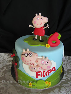 Bolo de aniversário Porquinha Peppa