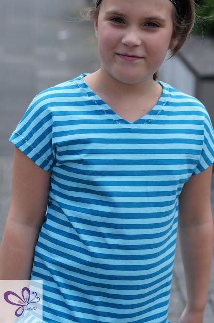 V-Shirt wird zum Kleid, T-Shirt, Shirt, Sommerkleid, V-Ausschnitt, Konfetti Patterns