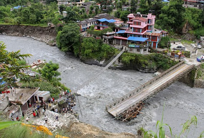 Nepal Flood and Landslides- 40 Deaths, Thousands Forced to Flee Homes