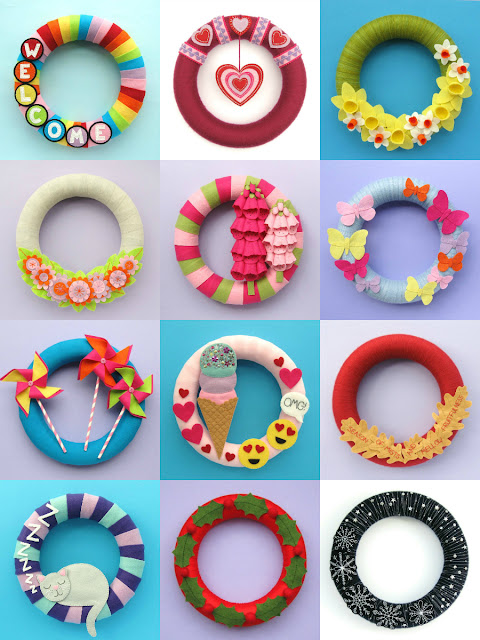 DIY Wreaths for Spring, Summer, Autumn & Winter