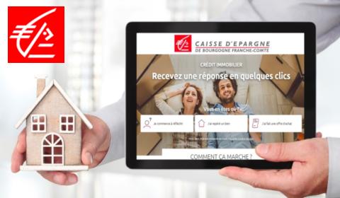 Crédit immobilier 100% digital à la Caisse d'Épargne Bourgogne Franche-Comté