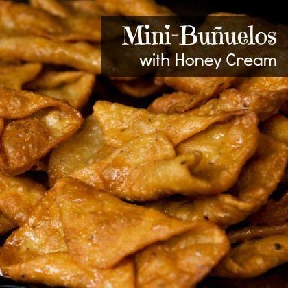 Mini-Buñuelos with Honey Cream