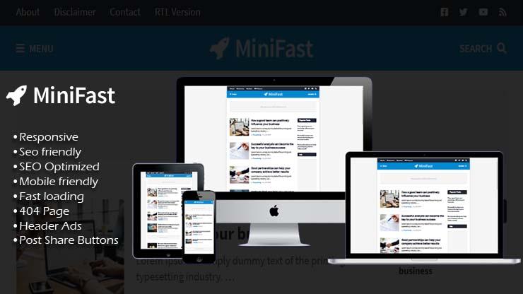 Minifast Premium Responsive Blogger Template