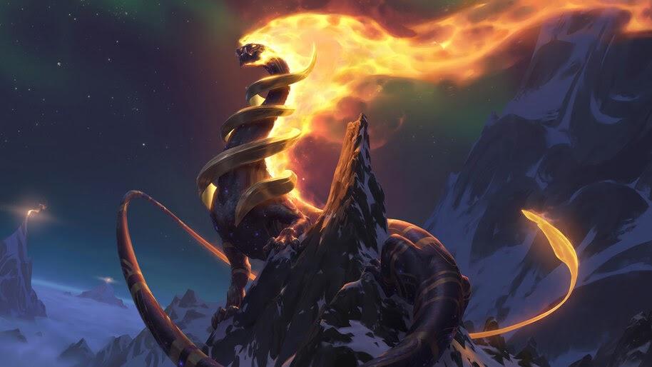 Inviolus Vox, Targon, Dragon, Legends of Runeterra, 4K, #5.2725