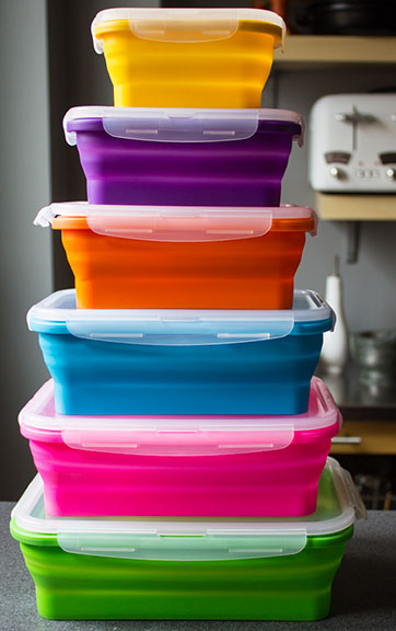 Flat Stacks Kitchen Storage Containers