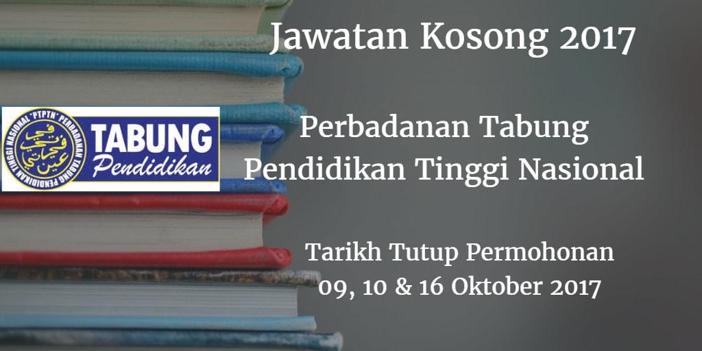 Jawatan Kosong PTPTN 09, 10 & 16 Oktober 2017