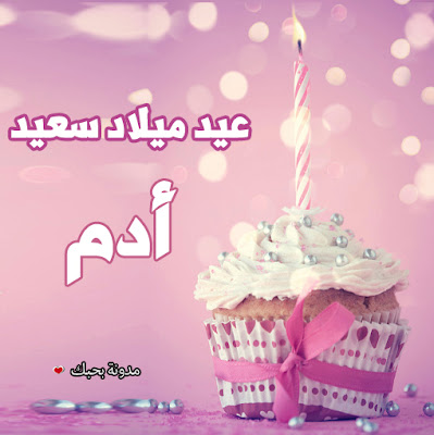 تورتات عيد ميلاد تحفه باسم ادم عيد ميلاد سعيد