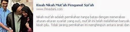 Fitnah Nikah Mut'ah Khatami dari Jaringan Media PKS / Ikhwanul Muslimin