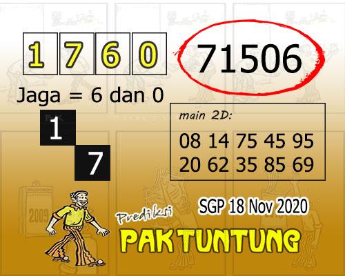 Pak Tuntung SGP Rabu 18 November 2020