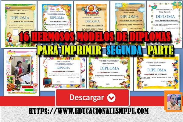 16 Diplomas y certificados gratuitas modificables en formato Word. Segunda parte