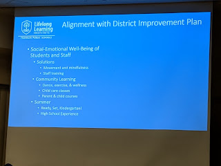 partial slide capture showing linkage to the District Improvement Plans