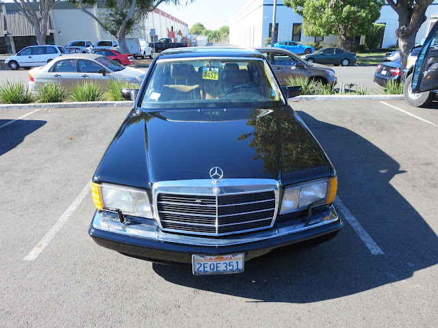 """New """"Limosine Black"""" paint on Mercedes Benz S-Class at Almost Everything Auto Body."""