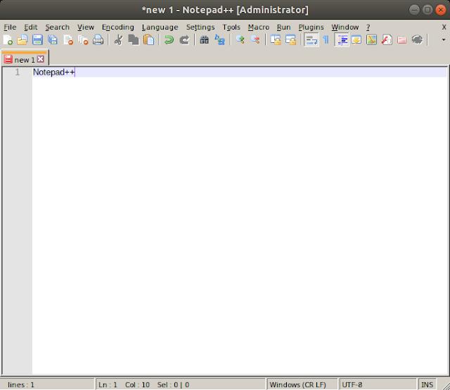 Notepad++ berhasil di install