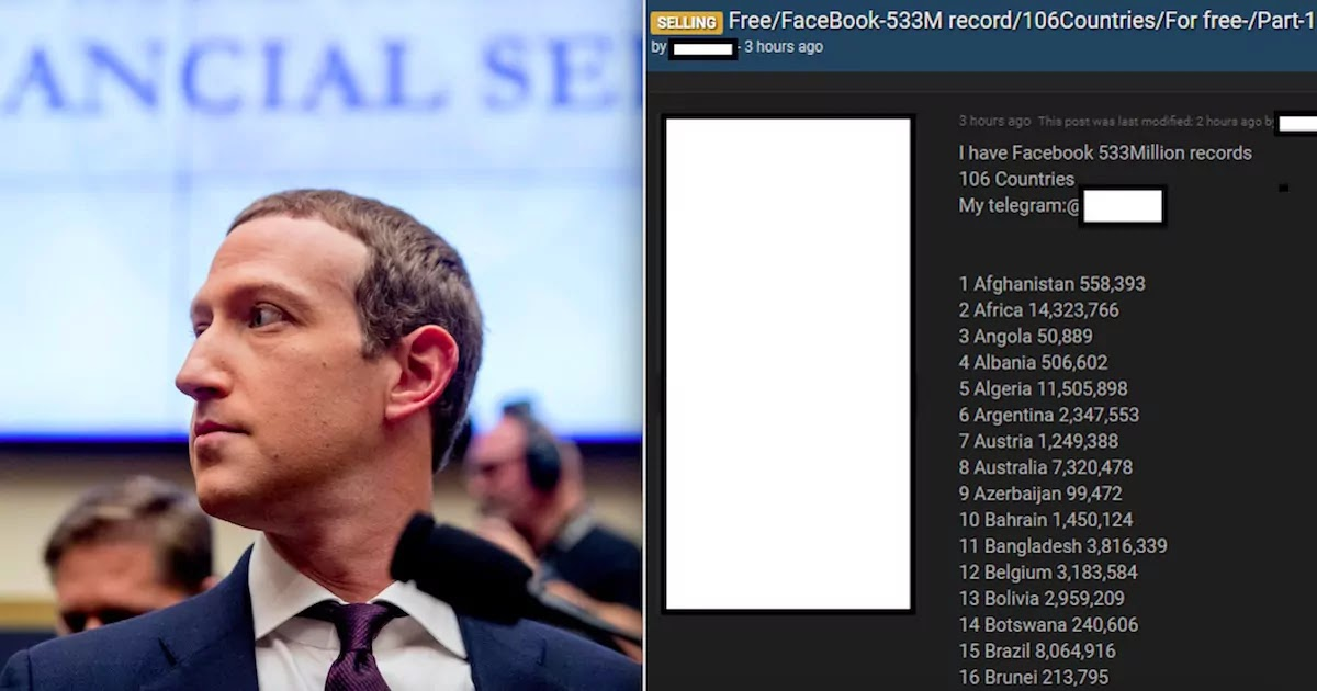533 Million Facebook Users' Personal Data Have Been Leaked Online