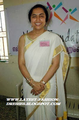 suhasini in kerala saree