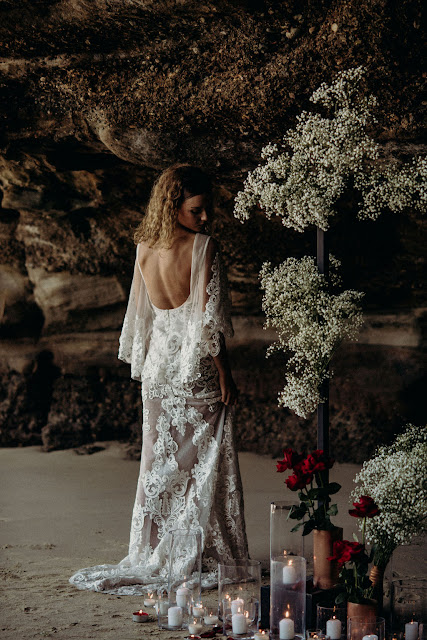 CAVES BEACH STYLED SHOOT VINTAGE WEDDINGS BOHO BRIDE