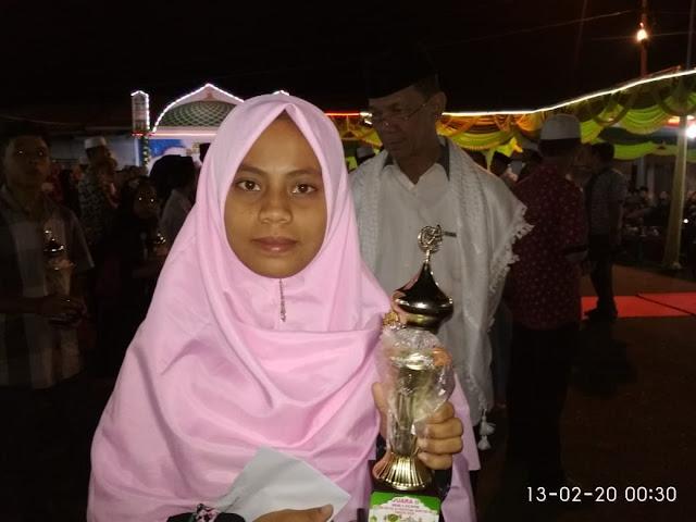 Adik Ilmuwan Ja'far Hasibuan Raih Juara 2 Hafiz Qur'an 5 Juz Di Angkola Timur