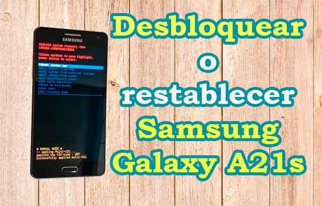 Desbloquear o restablecer Samsung Galaxy A21s || Hard Reset Samsung Galaxy A21s