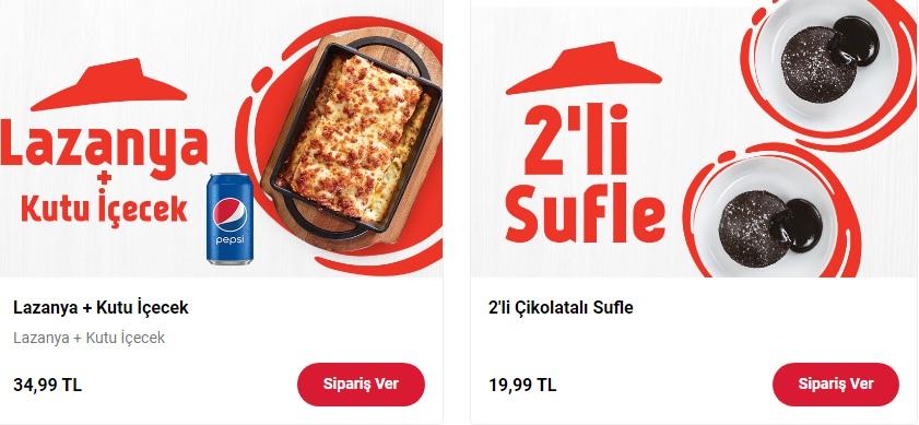 pizza hut lazanya kampanyası suffle kampanya fırsatı online sipariş 2021